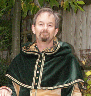 Dark Forest Green Velvet Hood and Liripipe with buttons centre front c.1300